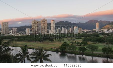 East Honolulu skyline