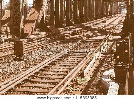 Railway Railroad Tracks Vintage
