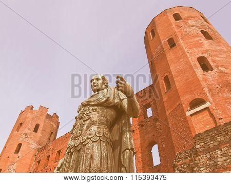 Julius Caesar Statue Vintage