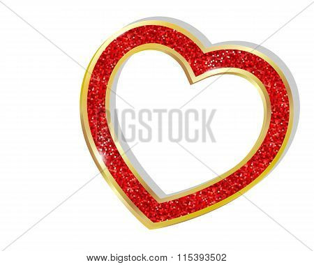 Pendant Heart In A Frame