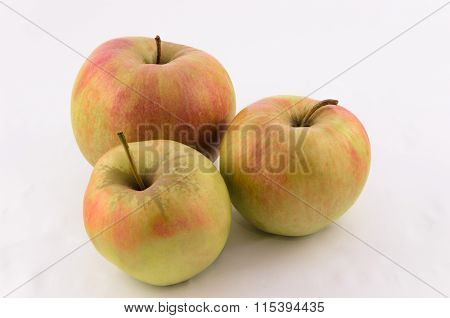 Three big juicy red apple