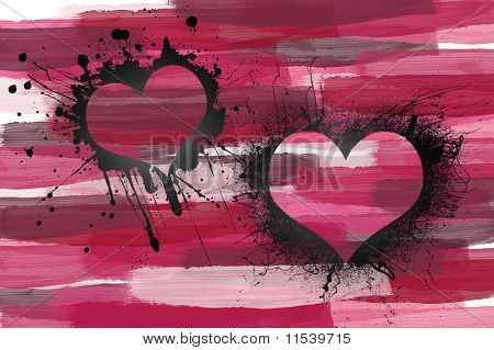 splatterd hearts