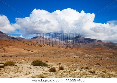The Road Through The Steppe Prairie