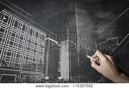 New modern buildings