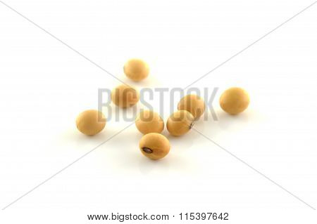 Soy Beans isolated on white background.