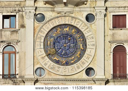 Saint Mark Clocktower With Zodiac Signs