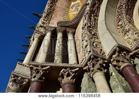 Saint Mark Basilica Beautiful Byzantine And Gothic Portal