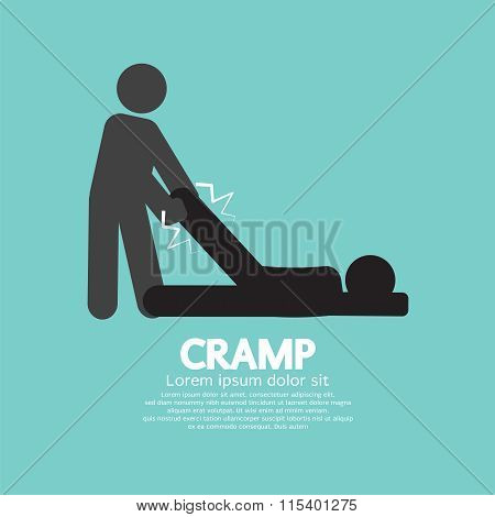 Man Help The Athlete From Cramp.