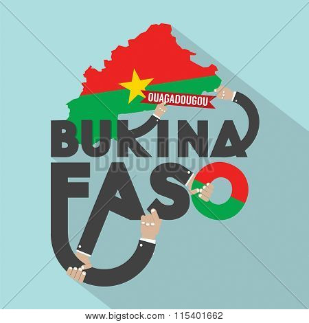 Burkina Faso Typography Design.