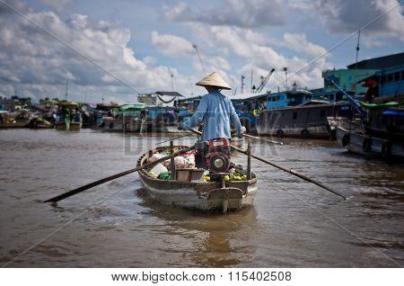 Floating market, Vietnam
