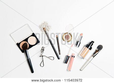 close up of makeup stuff