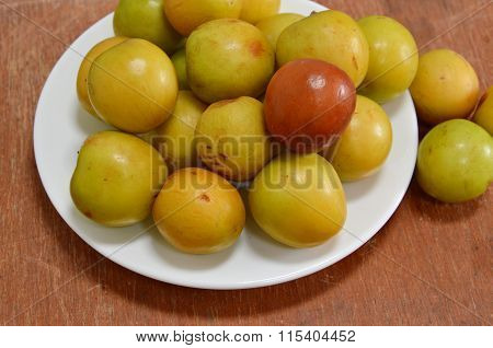 Chinese jujube in dish