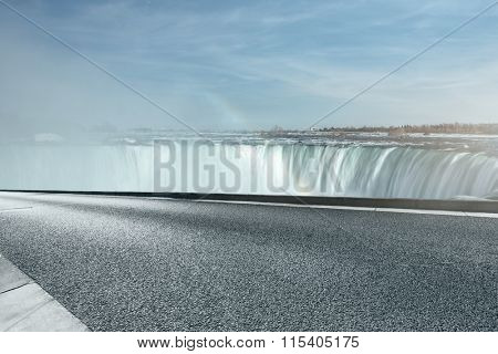 highway go aside Niagara Falls, Canada side.