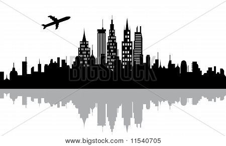 Cityscape With Skyscrapers