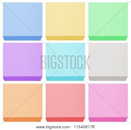 Packed Blocks Of Note Paper - Colorful