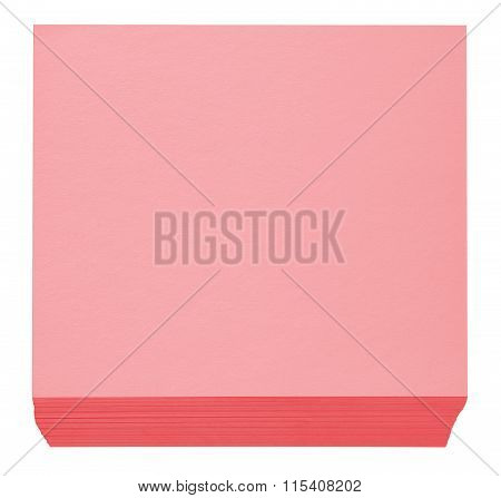 Packed Block Of Note Paper - Red