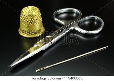 Thimble, Scissors And Needle