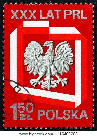 Postage Stamp Poland 1974 Polish Eagle