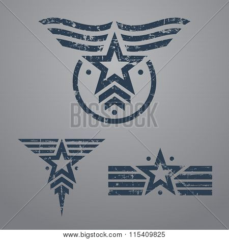 Military emblem set