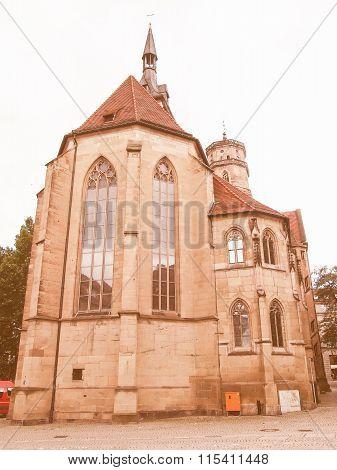 Stiftskirche Church, Stuttgart Vintage