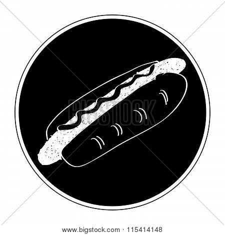 Simple Doodle Of A Hotdog