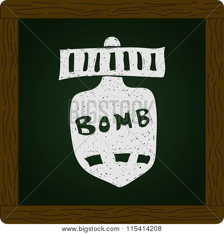 Simple Doodle Of A Bomb