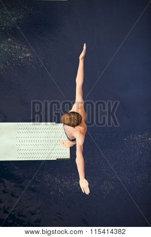 Diver on the springboard