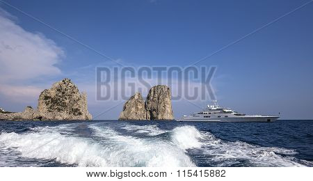 faraglioni islands Of Capri Island, Italy