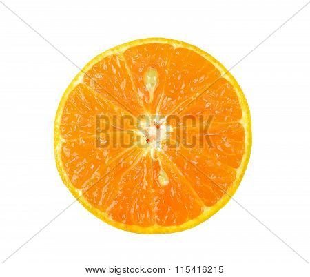 Tangerine Isolated On The White Background