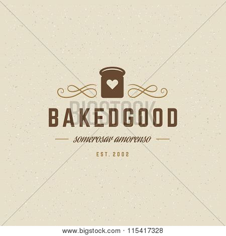 Bakery Logo Template. Vector Design Element Vintage Style for Logotype