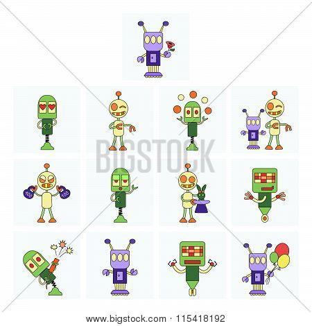 Funny robots set