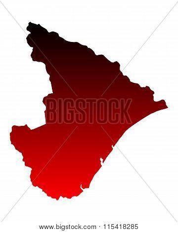 Map Of Sergipe