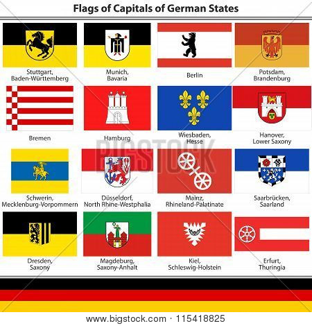 Flags Of Capitals Of German States