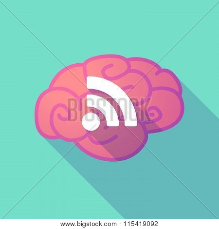 Long Shadow Brain With  An Rss Sign