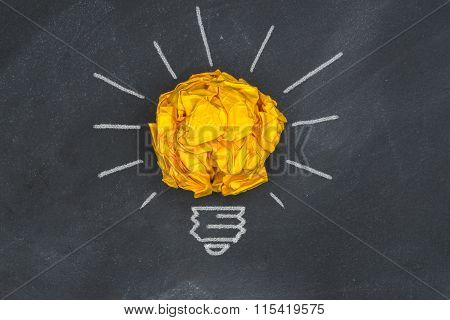 New Good Ideas,  Paper Ball On Blackboard