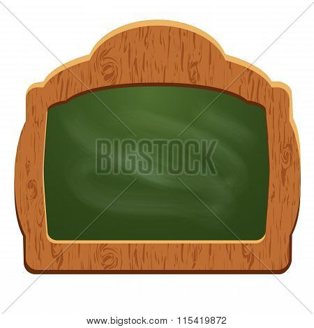 Wooden Sign Board (chalkboard) - Object Isolated On White Background. Empty Space For Your Text.