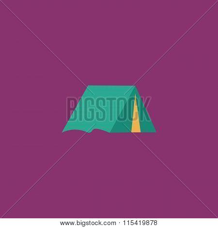 Tourist tent flat icon
