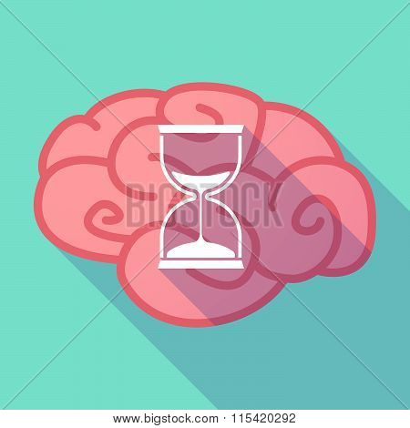 Long Shadow Brain With  A Sand Clock