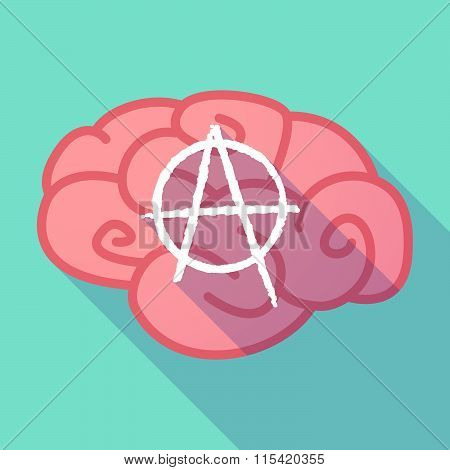 Long Shadow Brain With  An Anarchy Sign