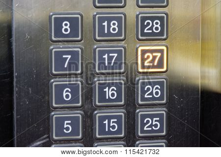 27 (twenty Seven) Floor Elevator Button With Light
