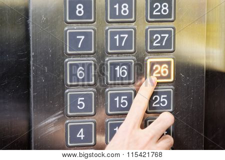 26 (twenty Six) Floor Elevator Button With Light And Pushing Finger
