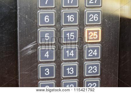 25 (twenty Five) Floor Elevator Button With Light