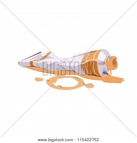 vector illustration of paint tube l