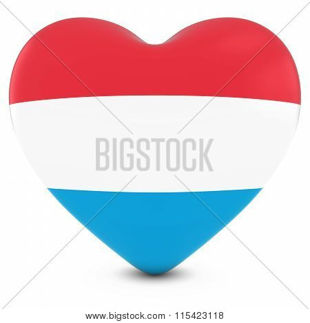 Love Luxembourg Concept Image - Heart Textured With Luxembourgian Flag