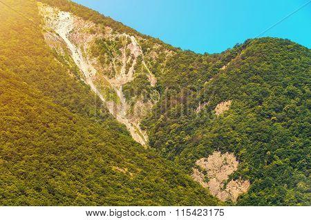 Amazing sunny mountain landscape