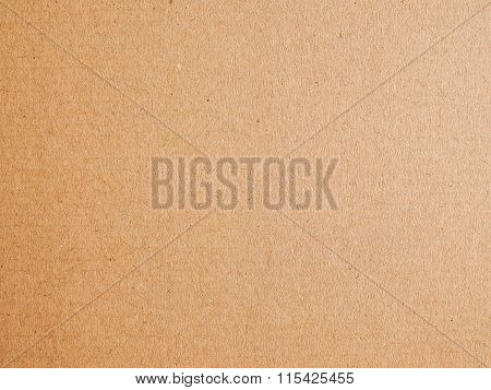 Retro Looking Brown Corrugated Cardboard Background