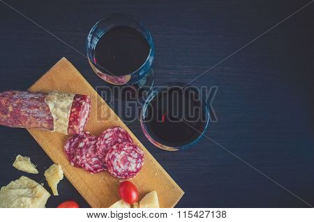 Still Life Of Two Wineglasses