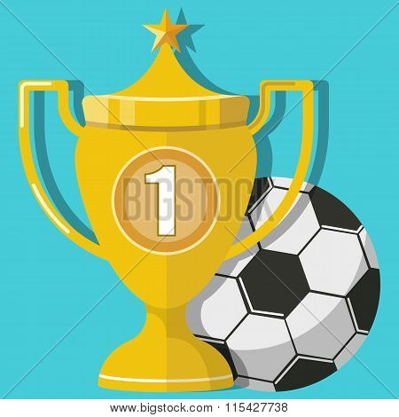 Award Football Trophy Cup