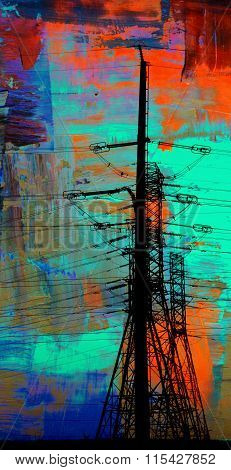 Power Lines Abstract