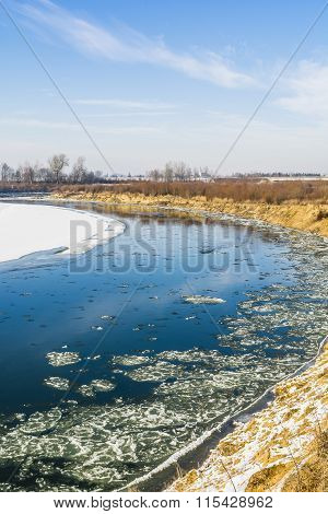 River During Periods Of Frost.